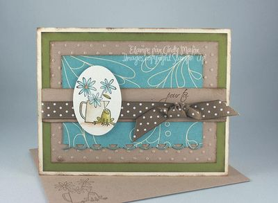 Carte Flower for All Seasons zephyr olive kraft