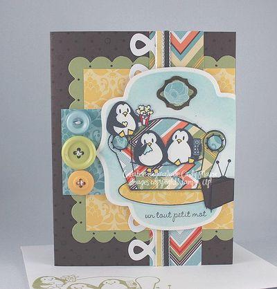 Carte Pingouins divan zigzag