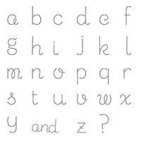 Sweet Shoppe Alphabet