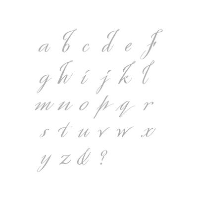 Spencerian Alphabet