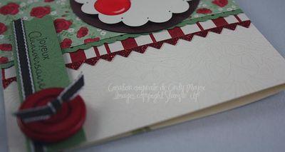 Carte Cerises Baies de houx_close up