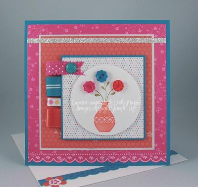 Carte Button Buddies Vase Macaron glace