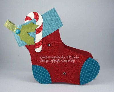 Carte Bas de Noel canne en bonbon