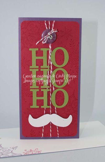 Carte Ho Ho Ho moustache