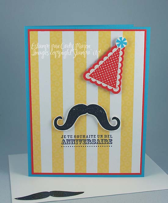 Carte Mustache anniversaire