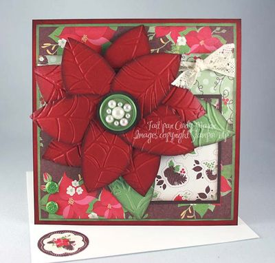 Carte Poinsettia 3D
