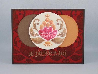 Carte Ornate Blossom Poppin Pastels