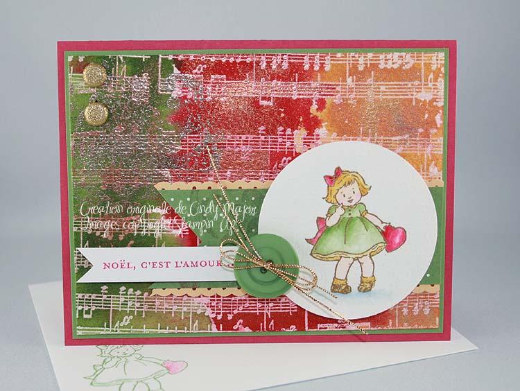 Carte Noel c_est l_amour