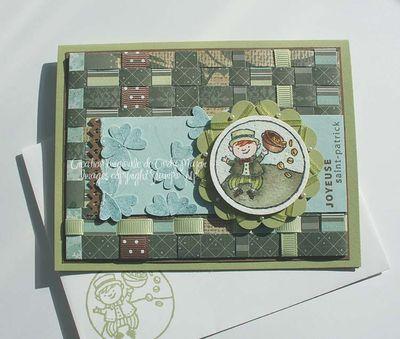 Carte St Patrick fond tresse