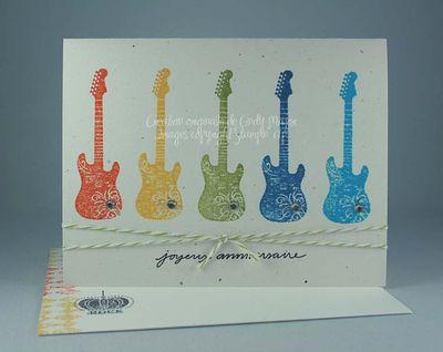 Carte Grunge Rock arc-en-ciel