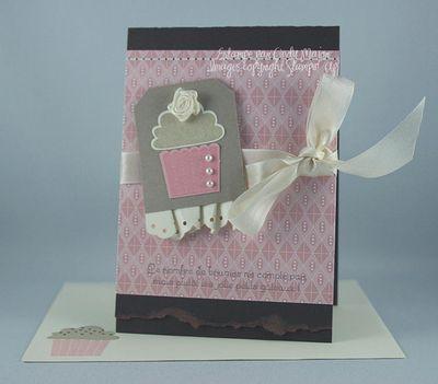 Carte Petit gateau Fleur de cerisier