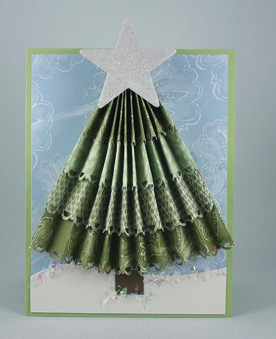 Accordeon Tree Card