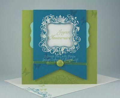 Carte Elegance elementaire citron indigo