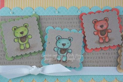 Carte A Teddy for Baby_close up