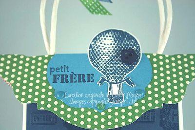Sac-cadeau Bon anniversaire Petit frere_close up 2