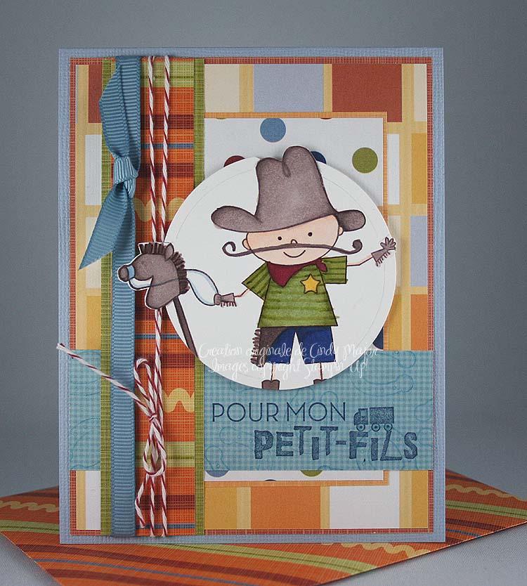 Carte Cowboy Kid Pour mon petit-fils