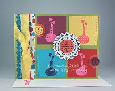 Carte Bright Blooms Warhol