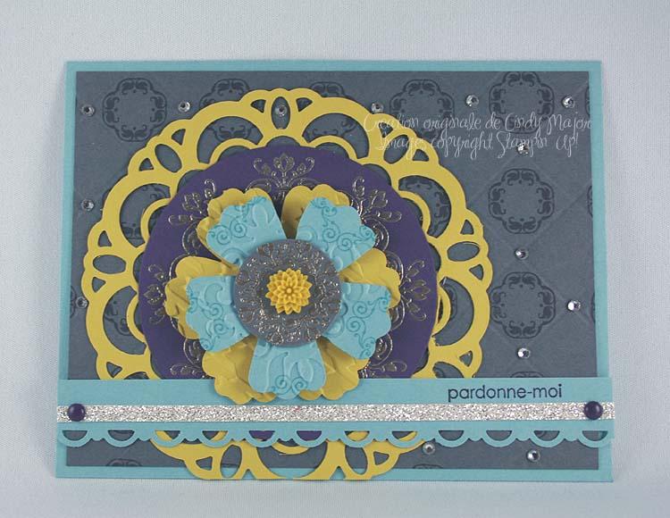 Carte Napperon et fleurs