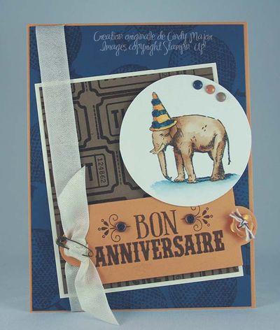 Carte Elephant anniversaire muse moutarde suède