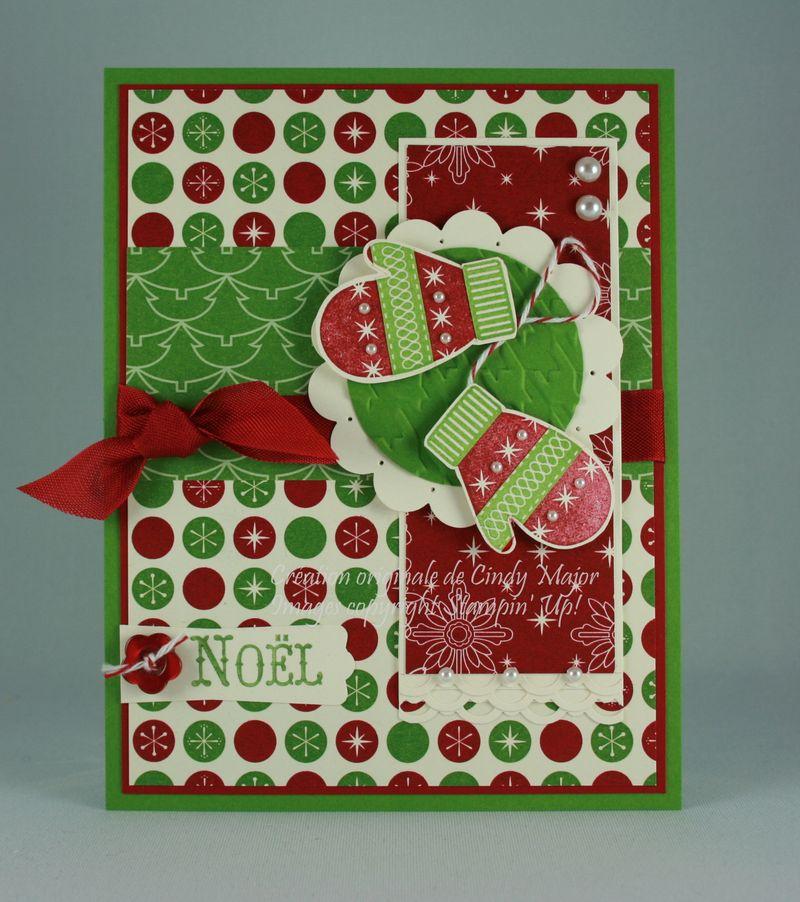 Carte Mitaines de Noel