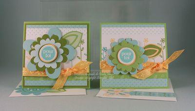 Cartes 3x3 fleurs