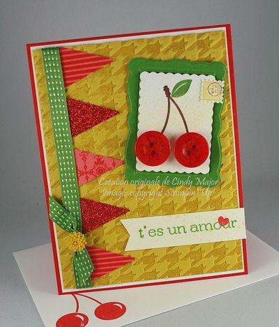 Carte Cerises t_es un amour