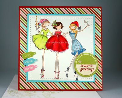 Carte Three Amigas Seasons Greetings