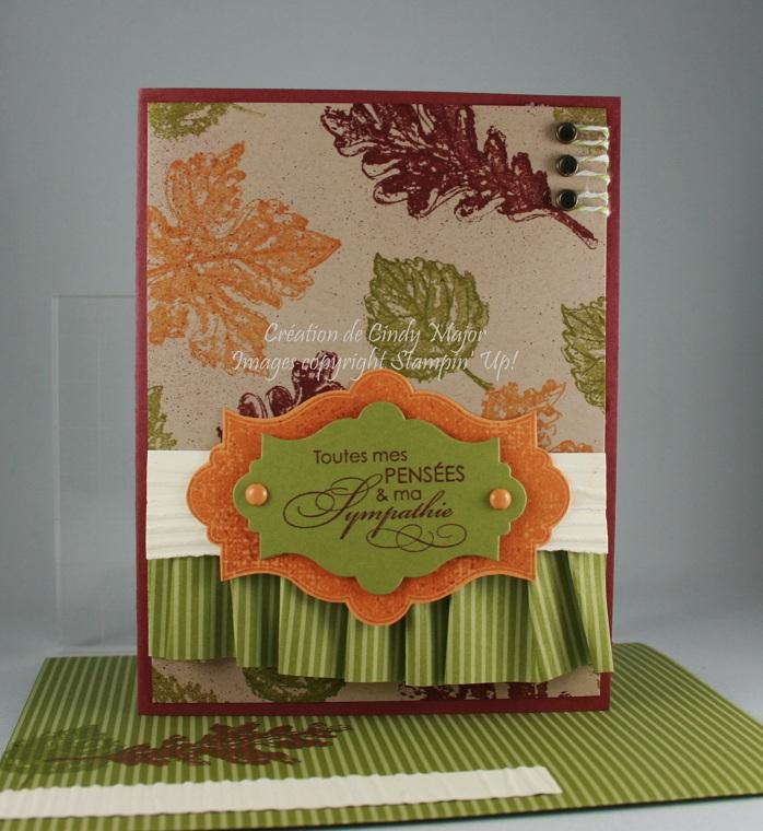 Carte feuilles automne sympathies