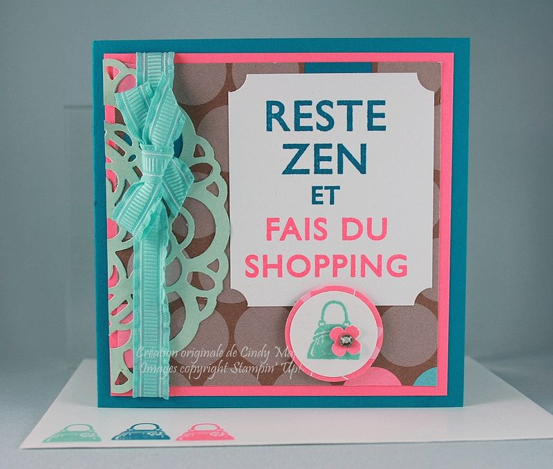 Carte 3x3 Reste zen et fais du shopping