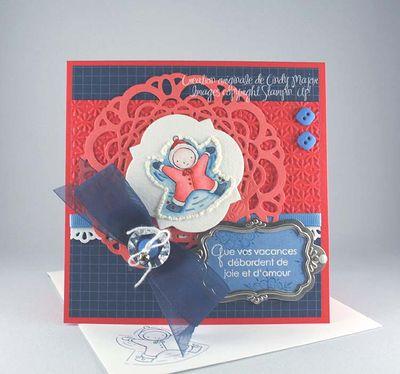 Père/'s Jour Rosetta Bleu Cadeau Étiquettes Pack De 2