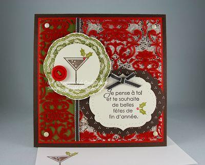 Carte Drink des Fetes Noel aux chandelles