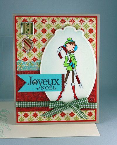 Carte Noel Canne en bonbon