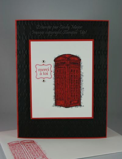 Carte Cabine telephone rouge