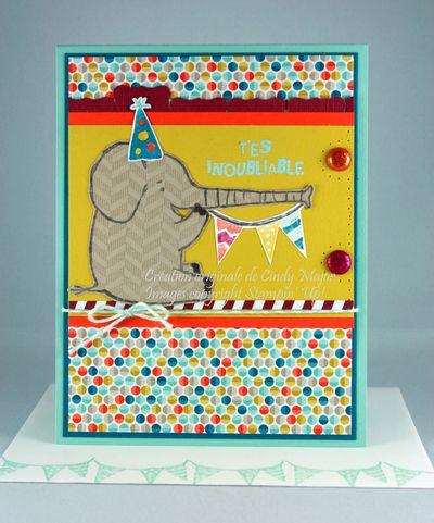 Carte Elephant fete