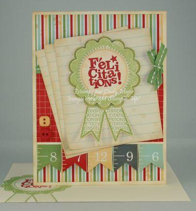 Carte Ruban felicitations