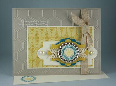 Carte Abeille sur bouchon indigo carambole sahara