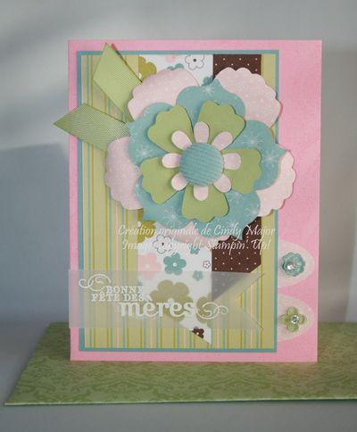 Carte Fleur fete des meres rose chocolat balkans