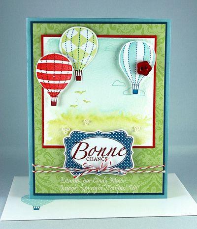 Carte Montgolfieres Bonne chance