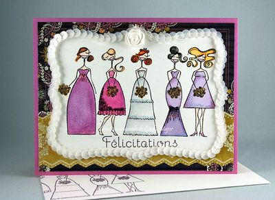 Carte Purple Bridal Party