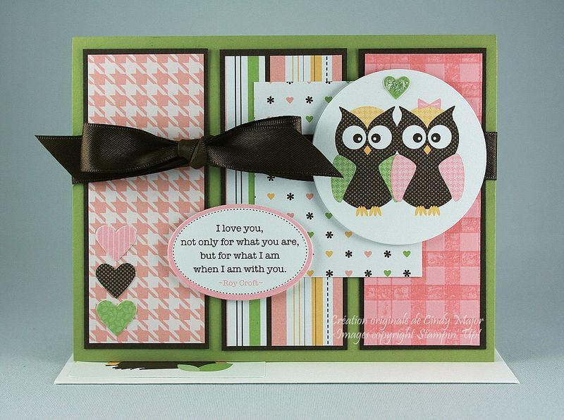 Carte Lovebirds and gingham