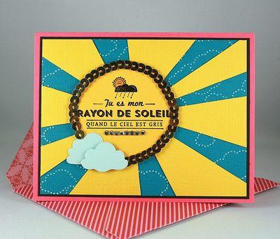 Carte Rayons de soleil_sequins or