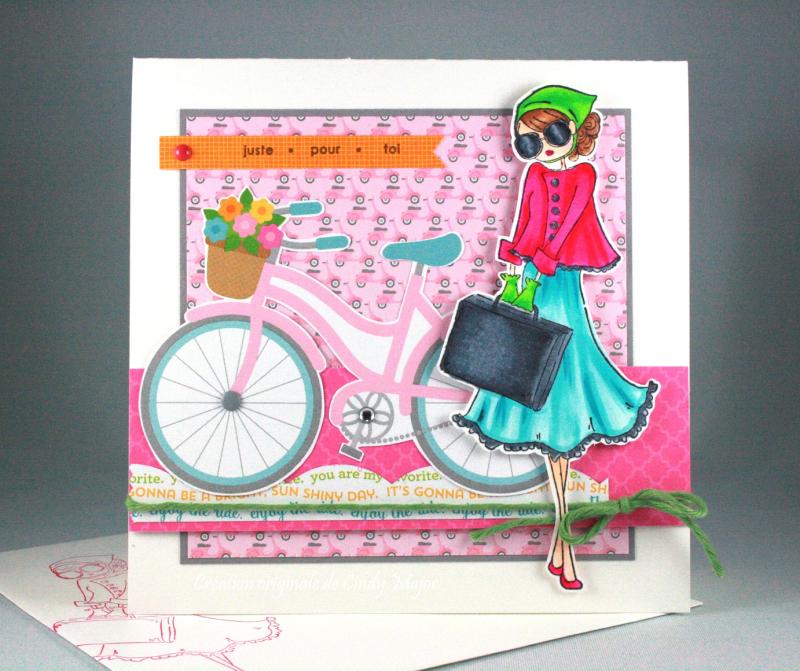 Uptown Girl Sunny is Stylish_Spring Garden Doodlebug Design_Cindy Major