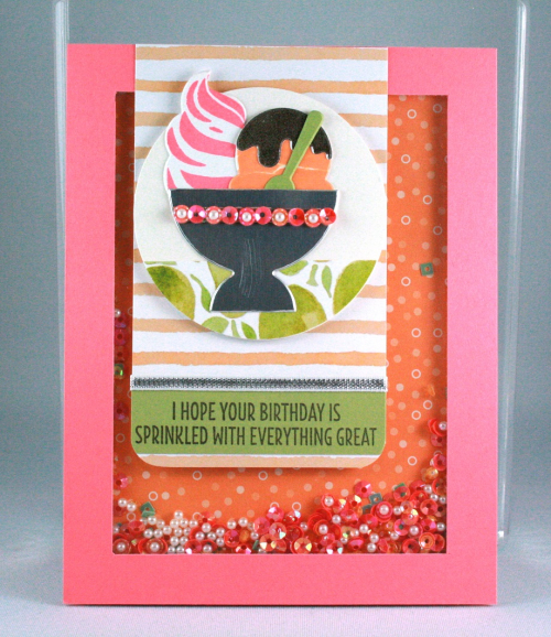 Cool Treats Shaker Card