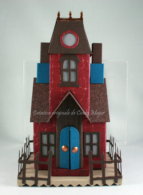 Tim Holtz Burgundy Village Manor