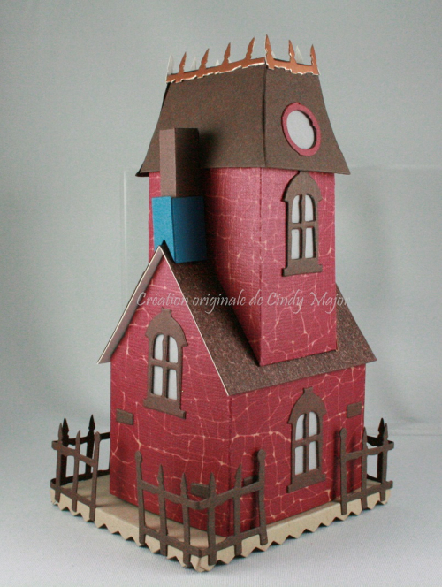 Tim Holtz Burgundy Village Manor_back