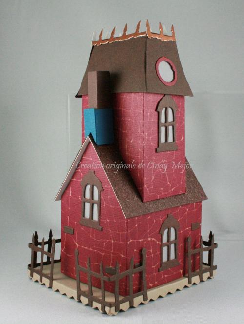 Tim Holtz Burgundy Village Manor_back