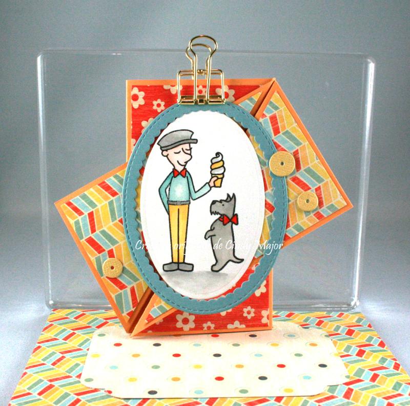 The Scoop_Diagonal Fold Card_Cindy Major