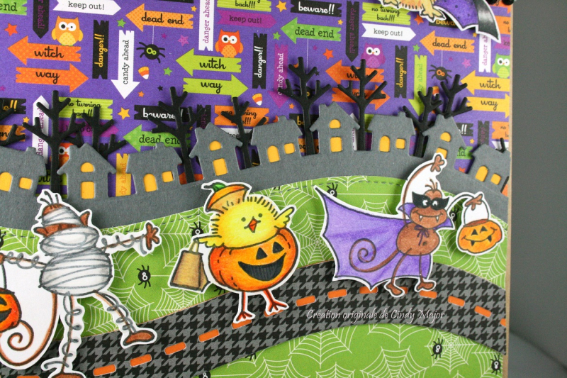 Stampendous Trick or Treaters Bag_Cindy Major_close up