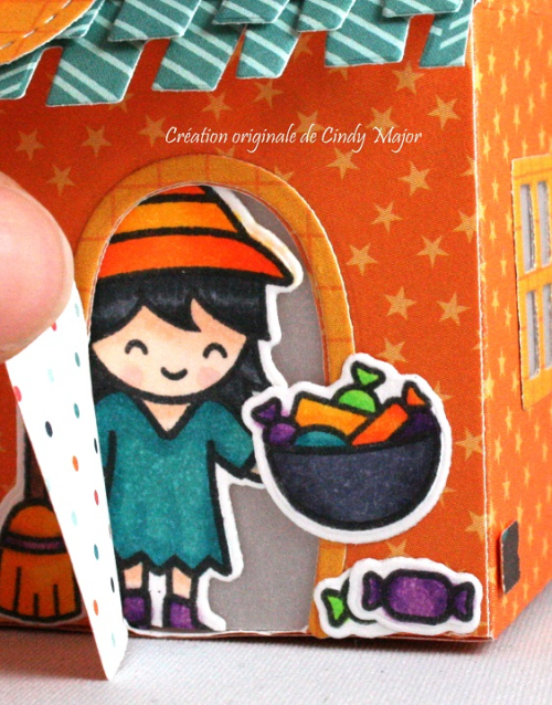 Scalloped Treat Box_Home Sweet Home_Costume Party_Cindy Major_close up