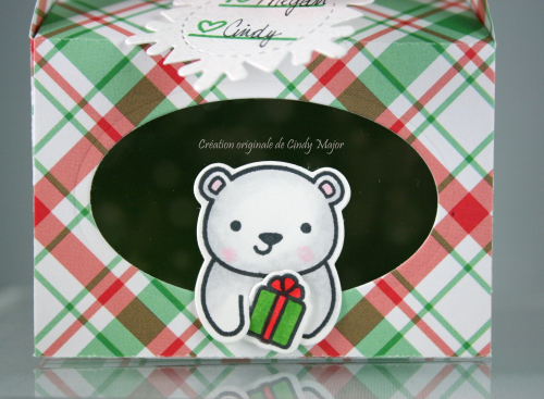 Scalloped Treat Box_Perfectly Plaid Christmas_For You Deer_Winter Tiny Tags_CIndy Major_close up